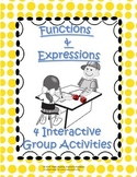 Functions, Expressions, Input, Output, Function Rules and more! 4 GAMES!