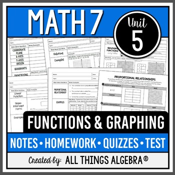 Functions and Graphing (Math 7 Curriculum - Unit 5)