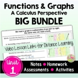 Functions and Graphs BIG Bundle with Video Lessons (Unit 1)
