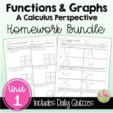 Functions and Graphs Homework (PreCalculus - Unit 1)
