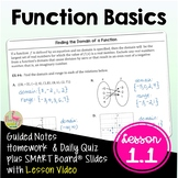 Function Basics (PreCalculus - Unit 1) DISTANCE LEARNING