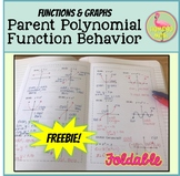 PreCalculus Parent Polynomial Function Behavior Foldable (FREEBIE)