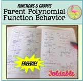 Parent Polynomial Function Behavior Foldable Freebie