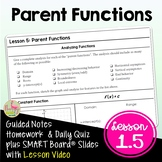 Parent Functions (PreCalculus - Unit 1)