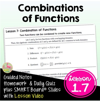 Combinations of Functions (PreCalculus - Unit 1) by Jean Adams | TpT