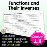 Inverse Functions with Lesson Video (Unit 1)