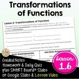 Graphical Transformations (PreCalculus - Unit 1)
