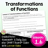 Transformations of Functions with Lesson Video (Unit 1)