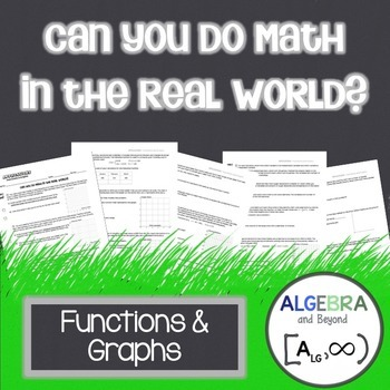 Functions and Graphs - Real World Applications