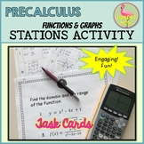 Functions - Graphs Stations Activity (PreCalculus - Unit 1)