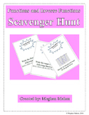 Functions and Inverse Functions Scavenger Hunt (Algebra 2)