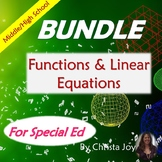 Functions and Linear Equations BUNDLE for Special Ed with lesson plans