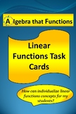 Functions and Linear Functions Task Cards