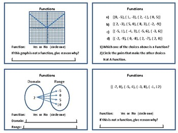 Functions and Mapping Diagrams (Domain and Range)