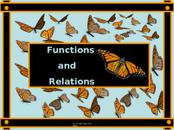 Algebra Power-Point:  Functions and Relations