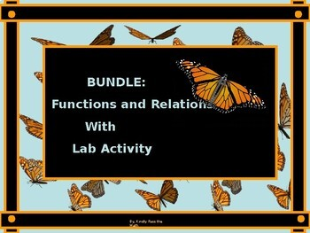 Functions and Relations A Bundle Power Point with Correspo