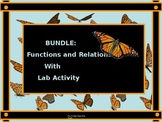 BUNDLE:  Functions and Relations Power Point with Correspo