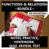 Functions & Relations Curriculum Bundle with Arithmetic Se