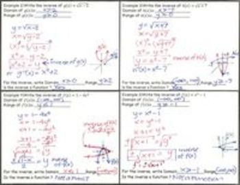 Functions and Relations - Bundled Lesson Plans