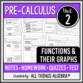 Functions and Their Graphs (Pre-Calculus – Unit 2)