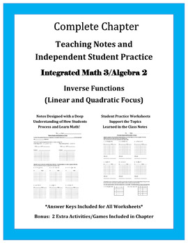 Functions and Their Inverses (Chapter Materials)