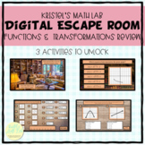 Functions and Transformations Review   Digital Escape Room   Breakout