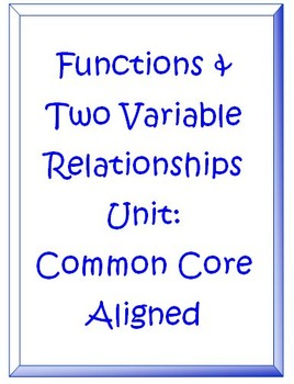 Functions and Two Variaable Relationship CHAPTER Common Core Aligned
