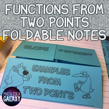 Functions from Two Points Foldable Notes