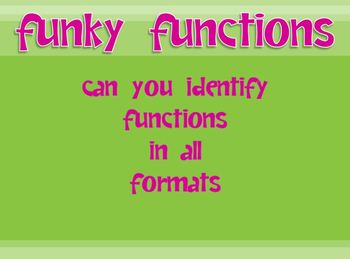 Functions in all Formats Powerpoint - for instruction, review or assessment