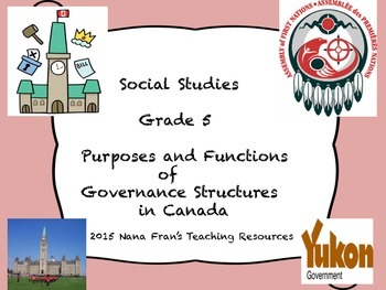 Purposes and Functions of Governance Structures in Canada - Grade 5 SS