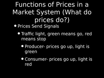 Intro to Economics: Functions of Prices in a Market System