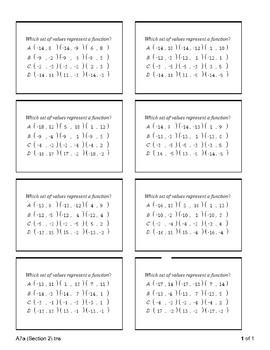 Algebra 1 - Functions Warm-ups