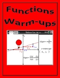 Algebra 1 - Functions Warm-ups