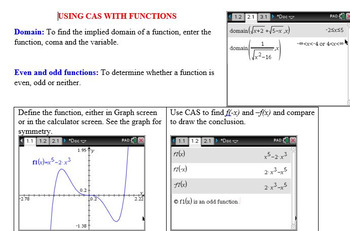 Functions with CAS