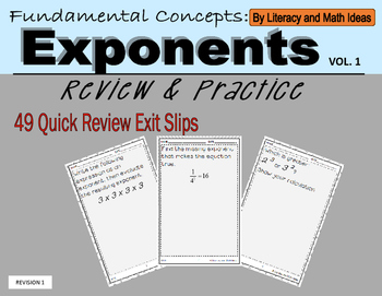 Fundamental Concepts of Exponents Volume 1