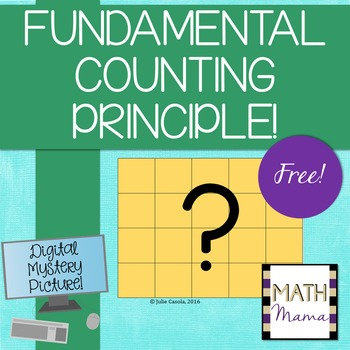 Fundamental Counting Principle - FREE Digital Mystery Picture!