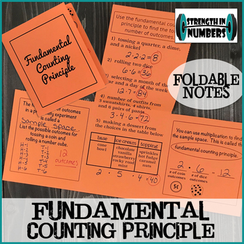 Fundamental Counting Principle Foldable Notes for Interactive Notebook