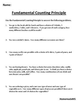 Fundamental Counting Principle (Free!)