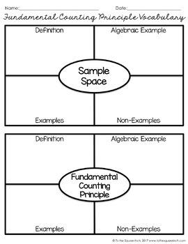 Fundamental Counting Principle Notes
