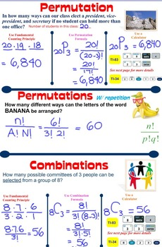 Fundamental Counting Principle, Permutation, & Combination