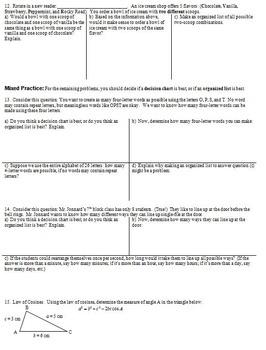 Fundamental Counting Principle & Probability Geometry Spring 2014 (Editable)