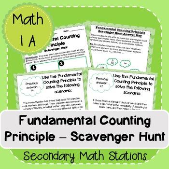 Fundamental Counting Principle Scavenger Hunt
