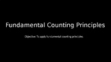Fundamental Counting Principles - PowerPoint Lesson (10.5)