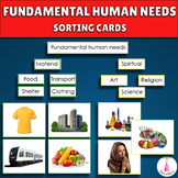 Fundamental Human Needs Sorting Cards