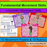 Fundamental Movement: Locomotor Movement Posters With Rubrics
