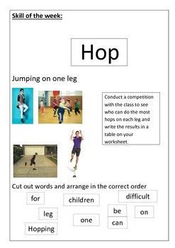 Fundamental Movement Skills booklet for Special Ed and Lower Primary
