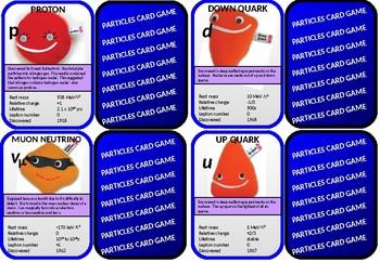 Fundamental Particles Card Game (quarks, leptons etc)