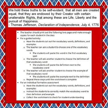 Principles and Founding Documents of U.S. Government Four-Day Unit!