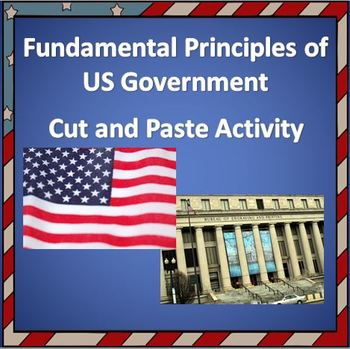Principles of U.S. Government Cut and Paste Matching - Instructions & Worksheet!