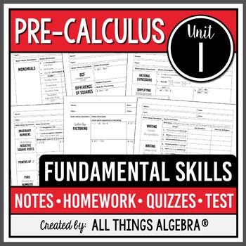 Fundamental Skills (Pre-Calculus – Unit 1)